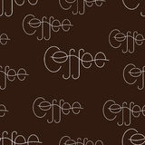 Background with coffee lettering Royalty Free Stock Photo