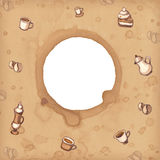 Background with coffee stains Royalty Free Stock Image