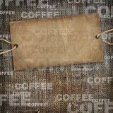 Background coffee texture vintage burlap Royalty Free Stock Photo