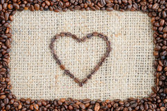 Background with coffee on Valentine`s Day stock images