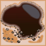 Background coffee. Vector frame abstract Royalty Free Stock Photo