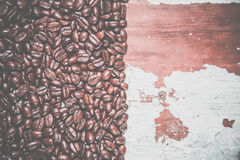 Background of coffee and wood texture Royalty Free Stock Images