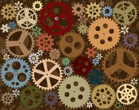 Background with cogwheels Royalty Free Stock Photos
