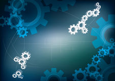 Background with cogwheels Stock Photography