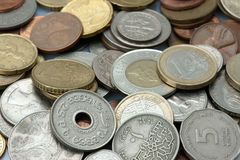 Background from coins. Of the different countries Royalty Free Stock Image