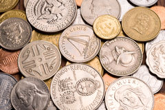 Background of coins. Royalty Free Stock Photo