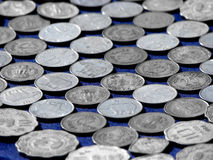 Background of Coins. A background of very old Indian coins Royalty Free Stock Image