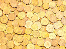 The background of the coins Stock Image