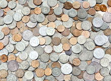 The background of the coins Royalty Free Stock Images