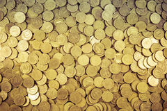 Background of coins. Many coins Royalty Free Stock Images