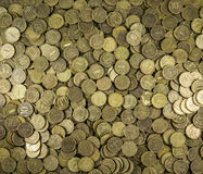 Background of coins. Many coins Stock Images