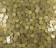 Background of coins. Many coins Royalty Free Stock Photos