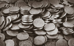 Background of coins. Many coins Stock Photo