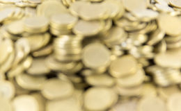 Background of coins. Many coins. Out of focus Royalty Free Stock Images