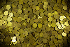 Background of coins. Many coins. Russian ruble Royalty Free Stock Image