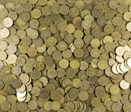 Background of coins. Many coins. Russian ruble Royalty Free Stock Images
