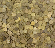 Background of coins. Many coins Royalty Free Stock Photo
