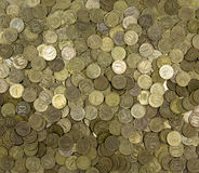 Background of coins. Many coins Royalty Free Stock Image