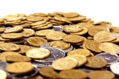 Background of the coins. Money of the of Ukraine Royalty Free Stock Image