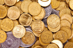 Background of the coins. Money of the of Ukraine Stock Photo