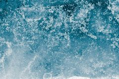 Background cold blue ice. Photo of an abstract texture royalty free stock image