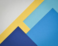 Background collage paper page. Abstract background paper page with blue and white and yellow colors Royalty Free Stock Photos