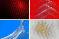 Background collection. Collection of abstract fractal background Royalty Free Stock Images