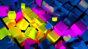 Background color. Of the cubes for illustrations Stock Photo