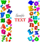 Background with color alphabet. Vector Stock Photos