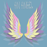 The background with color angel wings. Vector illustration Stock Photo