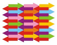 Background with color arrows. Vector background with color arrows Royalty Free Stock Image