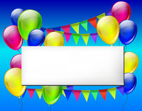 Background with color balloons Royalty Free Stock Photo