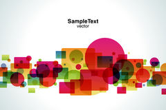 Background Color Bubble and Square. And wave Royalty Free Stock Image