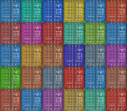 Background from color cargo containers royalty free stock photos