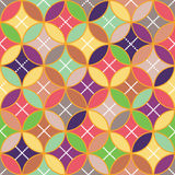 Background - color circles intersecting. Color circles intersecting, background, dot vector illustration
