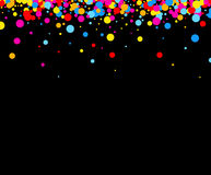 Background with color drops. Black paper background with color drops. Vector illustration Vector Illustration