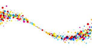 Background with color drops. White paper background with wave of color drops. Vector illustration Vector Illustration