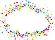 Background with color drops. White paper cloud background with color drops. Vector illustration Stock Photos
