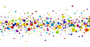 Background with color drops. White paper background with strip of color drops. Vector illustration Royalty Free Illustration