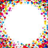Background with color drops. White paper background with color drops. Vector illustration Royalty Free Illustration