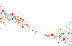 Background with color drops. White paper background with wave of color drops. Vector illustration Royalty Free Illustration