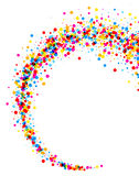 Background with color drops. White paper background with whirl of color drops. Vector illustration Vector Illustration