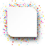 Background with color drops. White background with color drops. Vector illustration Royalty Free Stock Image