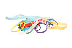 Background from color elastic bands Royalty Free Stock Photography