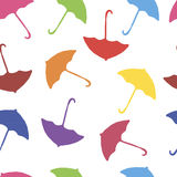Background-color flying umbrellas Royalty Free Stock Photos
