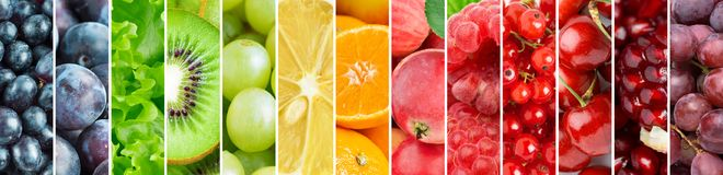 Background of color fresh fruits Stock Photo