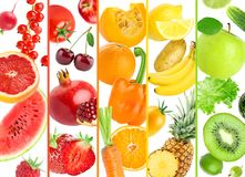 Background of color fruits and vegetables Royalty Free Stock Images