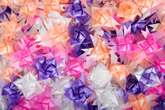 Background color of gift ribbons Stock Photo