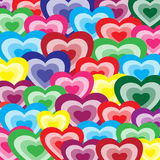 Background from color hearts Stock Photography