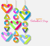 Background with color origami paper hearts Stock Images